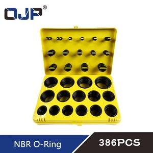 Image 4 - 382/386PC Black Rubber Ring 30Size Nitrile O ring Seal Washer Sealing NBR O ring Gasket Red/Blue/Yellow Assortment Set Kit Box
