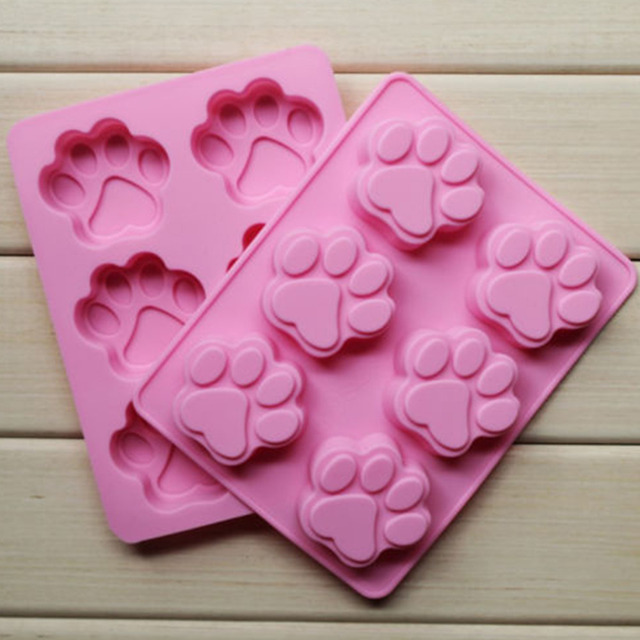 Hot Cookie Baking Molds Dog Paw Silicone Mold Cake Decorating Tools Cookie Cutter Pastry Accessory Kitchen Accessoriess