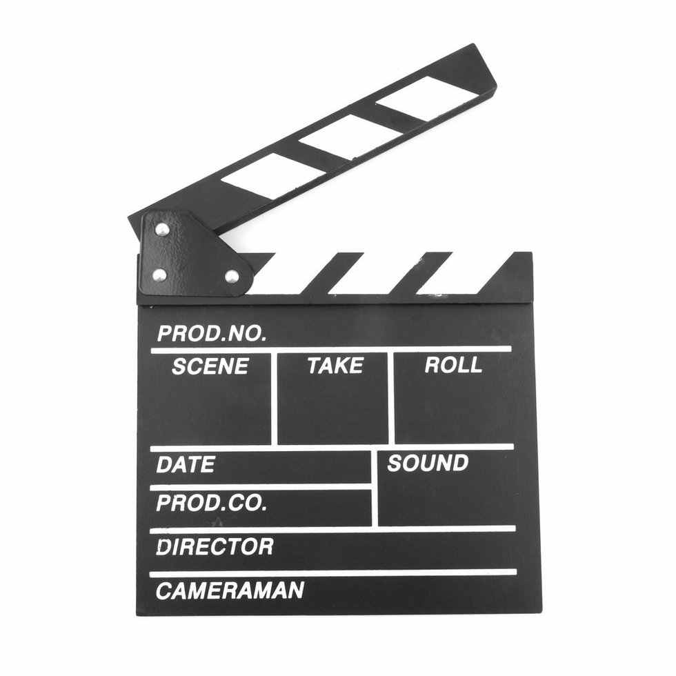 Wood Director Video Scene Clapperboard TV Movie Clapper Board 20x20x1.5cm Film Slate Cut Prop high performance
