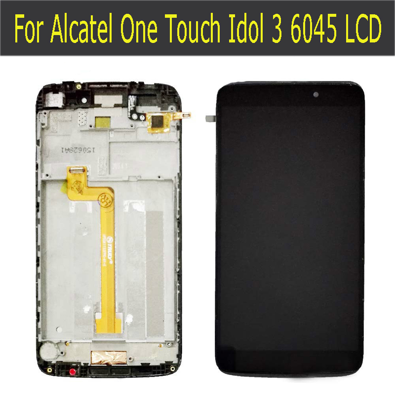LCD DIsplay + Touch Screen Digitizer +Frame Cover Assembly For Alcatel One Touch Idol 3 OT6045 6045 6045Y 6045F
