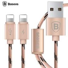 Baseus Плетеный Нейлоновый Двойной 8pin Кабель USB Для Lightning Кабель Для iPhone 7 5S 6 5 6 S Плюс Быстрая Синхронизация Данных, Зарядное Устройство Зарядное Кабель