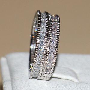 Image 4 - Victoria Wieck anneaux de mariage pour femmes, bijoux Vintage, 14kt, en or blanc, rempli de AAA CZ, 3 pièces pour amour, Size5 11