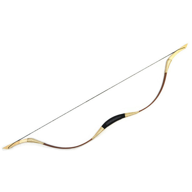 Wholesale New traditional Handmade  Longbow Recurve Archery fiberglass hunting Leather bow with brown Outdoor Sport