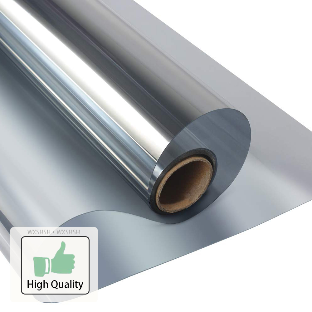 40/50/60/70/80/90x500 Cm One Way Mirror Window Film,Vinyl Self adhesive Reflective Solar film Privacy Window Tint for Home-in Decorative Films from Home & Garden