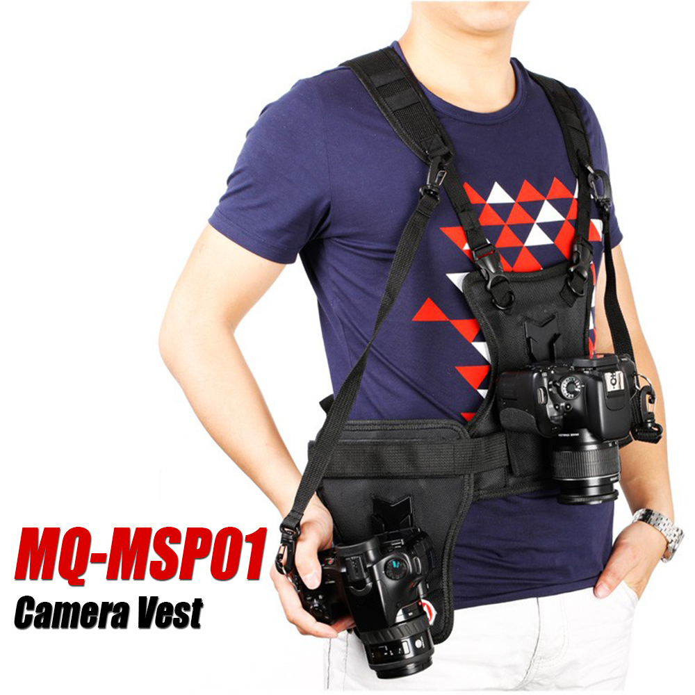Micnova MQ-MSP01 Camera Vest DSLR Carrying Chest Multifunctional Carrier with Quick Dual Side Holster Strap for Canon Nikon Sony цена