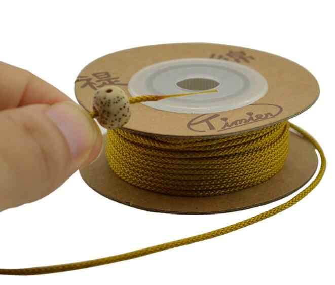 1mm 1.5mm noeud chinois corde en Nylon bobine chaîne tresse perle ligne Bodhi corde collier bijoux à bricoler soi-même corde Jade ligne Bracelet