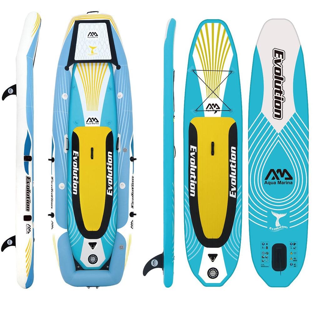 Aqua marina L'évolution Gonflable professionnel 2-en-1 ISUP et kayak Stand up Paddle Board gonflable paddle board planche de surf