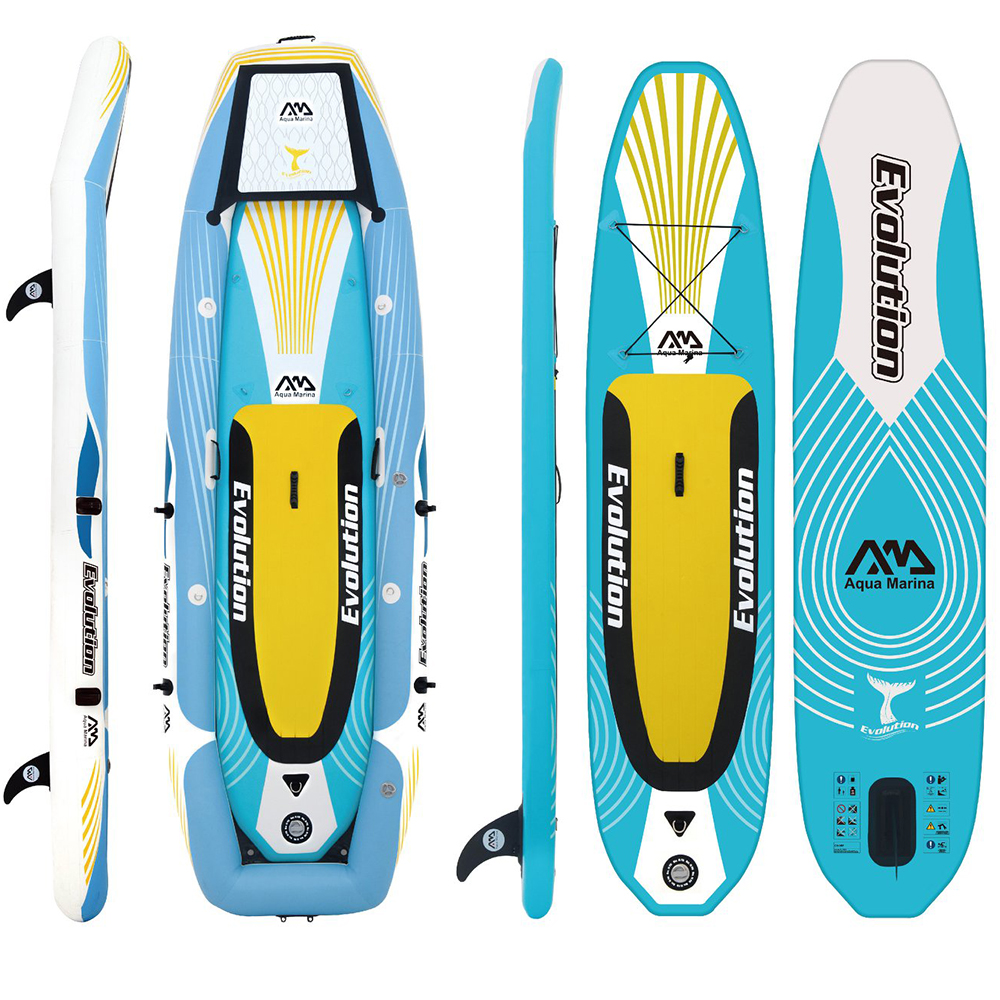 Aqua marina L'évolution Gonflable professionnel 2-en-1 ISUP et kayak Stand up Paddle Board gonflable paddle board planche de surf