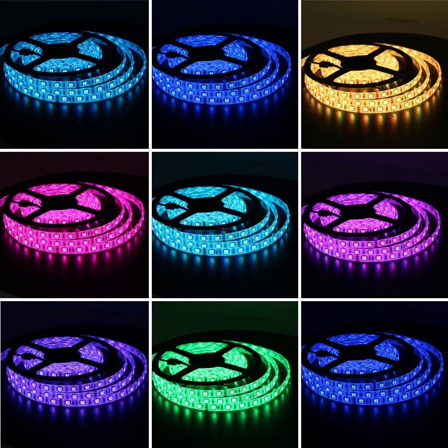 Tira de luz led RGB de 24V 5050 20M impermeable IP67 1200led blanco frío blanco cálido RGB tira de Led Flexible cinta ledstrip al aire libre - 6