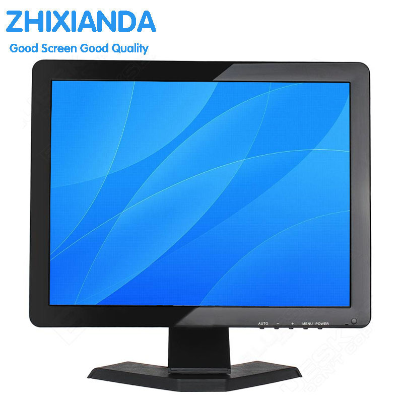 15 Inch 1024x768 TFT LCD CCTV HDMI HD Monitor Color Screen with BNC/VGA/AV/HDMI/USB Earphone Output, Built-in Speaker