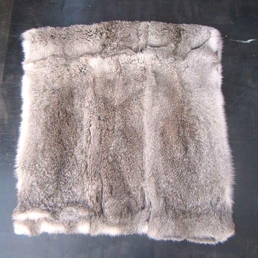 Real Natural Genuine Color Home Rabbit Fur Skin Pelt Rug