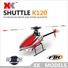 High Quality Original XK K120 6CH Helicopter Brushless 3D/6G System RTF RC Helicopter