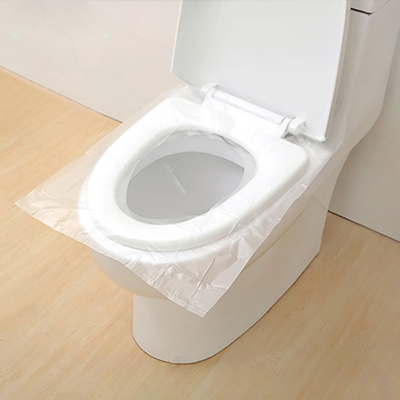 10Pcs/Pack Disposable Toilet Seat Cover Bath Mat Travel Bathroom Toilet Paper Waterproof Lid Pad Household Accessories Supplies toilet seat