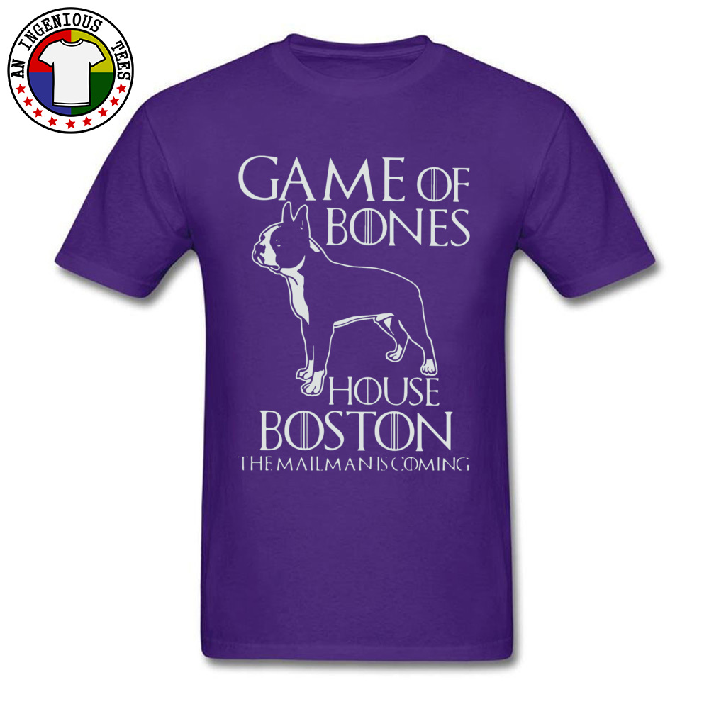 Game of bones house bosto24521 Tees Brand O Neck Slim Fit Short Sleeve 100% Cotton Fabric Mens Top T-shirts Unique Tops Tees Game of bones house bosto24521 purple