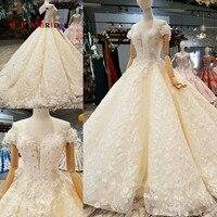 QUEEN BRIDAL 2019 Vestido De Noiva Custom Made Bridal Gown Lace Beaded Vintage Wedding Dresses Robe De Mariee WD167