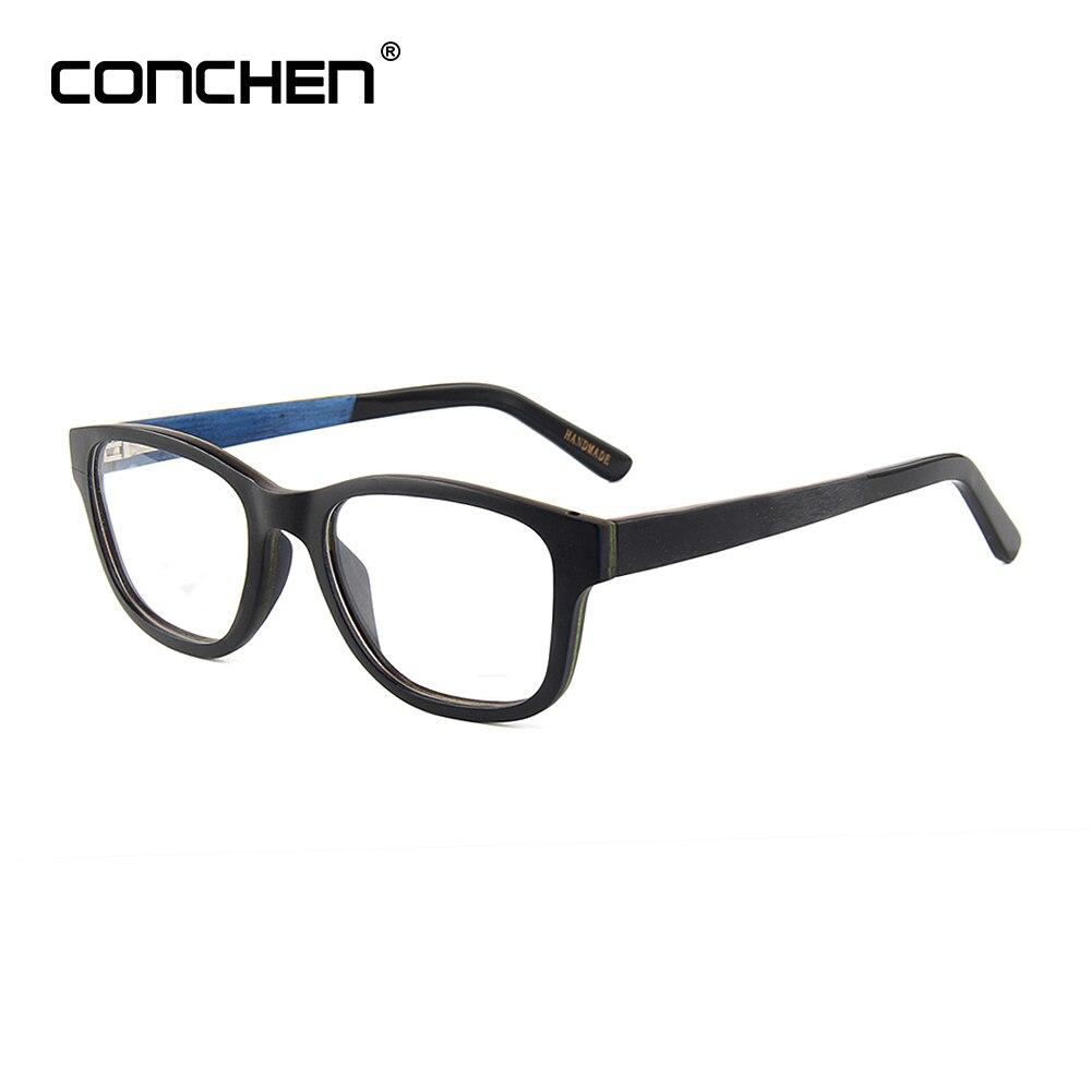 CONCHEN montures de lunettes en bois hommes optique plaine lunettes femmes cadre complet Vintage bois monture lunettes bambou