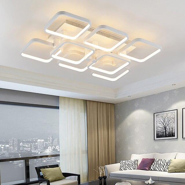 Wonderful New Square Ringe Designer Moderne Führte Deckenleuchten Lampe Für  Wohnzimmer Lobby Fernbedienung Aluminium Körper Deckenleuchte