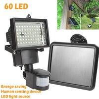 Solar Panel LED Flood Security Garden Light PIR Motion Sensor 60 LEDs Path Wall Lamps Outdoor