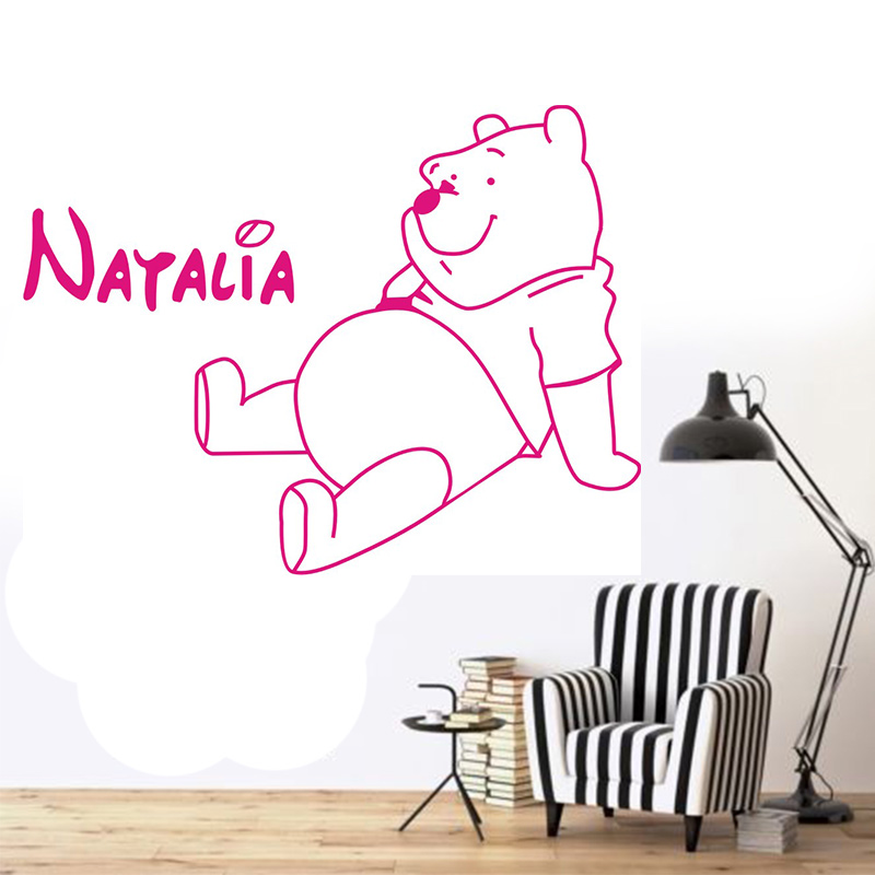 eb037380f22d POOMOO Wall Decals Winnie The Pooh Bear personalized children vinyl wall  stickers Art Decal Home Decor Kids Nursery-in Wall Stickers from Home    Garden on ...