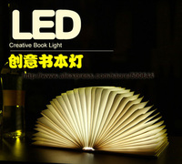 Novel Leather USB Rechargeable Page Book Light Creative Charging LED Folding Book Night Lamp DHL UPS