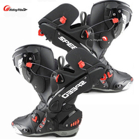 Upgrade Motorcycle Boots Pro Racing Opening Boot Professional Riding Non slip Mircrofiber Leather Motorbike boots boats