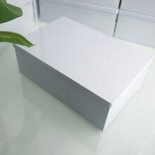 195X130X69mm 새로운 도착 직사각형 큰 흰색 잡화 저장 상자 비스킷 케이스 주최자 힌지 12pcs / lot와 악세사리 주석 상자