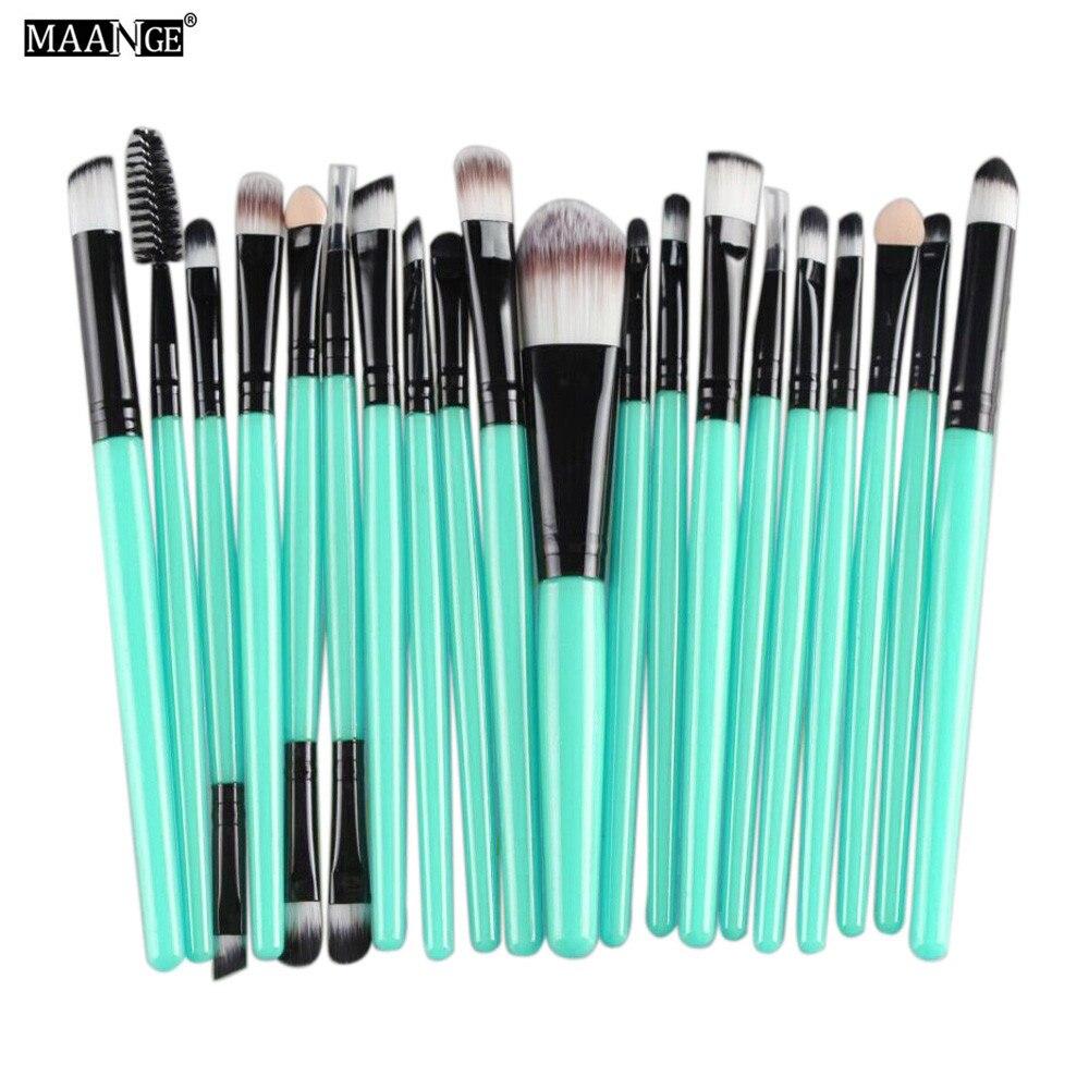 MAANGE 20pcs Rose Gold Makeup Brushes sets Professional Eyeshadow Cosmetics Blusher Powder Foundation Concealer Make up Brush #5