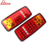 2Pcs 33LED Trailer Tail Lamp Truck Bus For Van Stop Rear Tail Indicator Lights Reverse Lamp