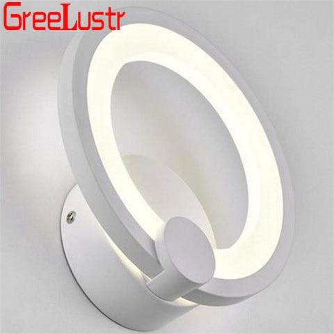 branco anel loft cabeceira luminaria banheiro espelho luz ac85 265v