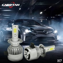 Carptah Super Brightness C6 COB H7 LED Headlight 72W 7600LM All In One Plug&play Car LED Headlights Bulb Headlamp