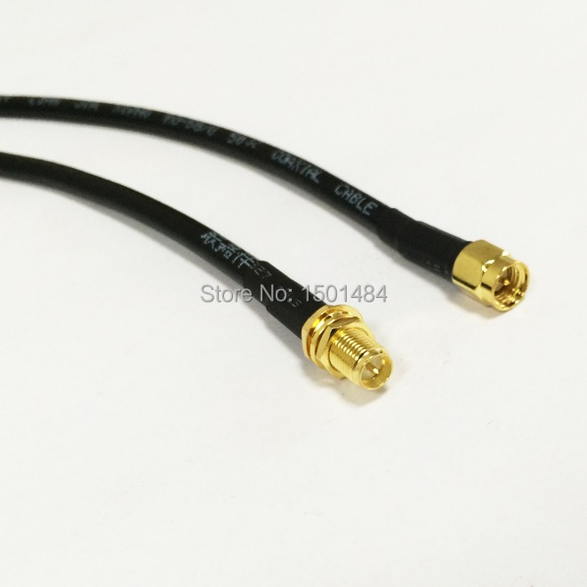 WIFI Antenna Cable  SMA Male Plug  Switch  RP-SMA Female Jack  Convertor RG58  Wholesale  Fast Ship 50CM 20