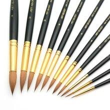 Высокое качество pur колонок акварель Staming позолоченные латунные втулки короткой деревянной ручкой Краски Staming 888R