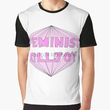 14dd12fda9487 Impresión 3D camiseta hombres T camisa feminista camiseta aguafiestas  camiseta(China)