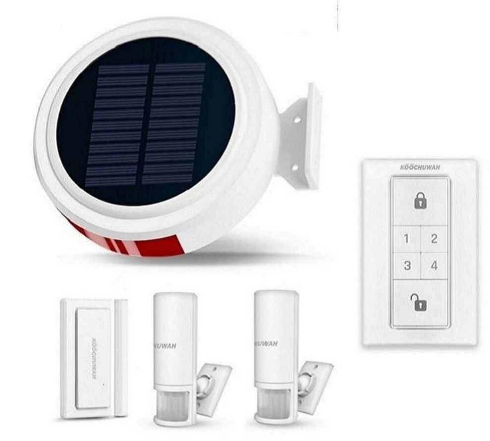 KOOCHUWAH GSM alarme solaire extérieure étanche système d'alarme GSM Smartphone télécommande SMS avis composition appel sécurité à domicile