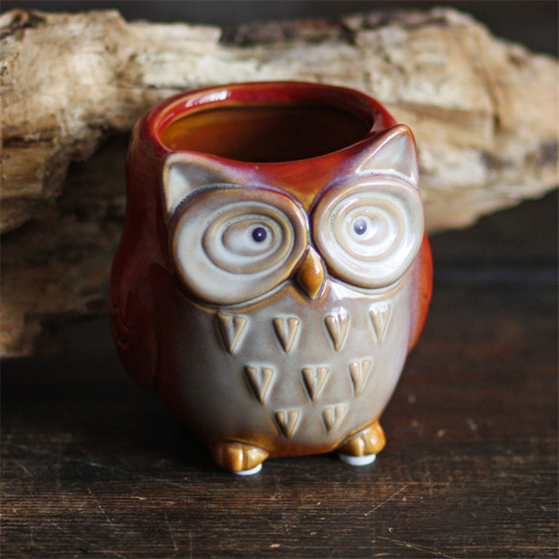 The Owl Household Desktop Decor Pen Holders Kids Toy Ceramic