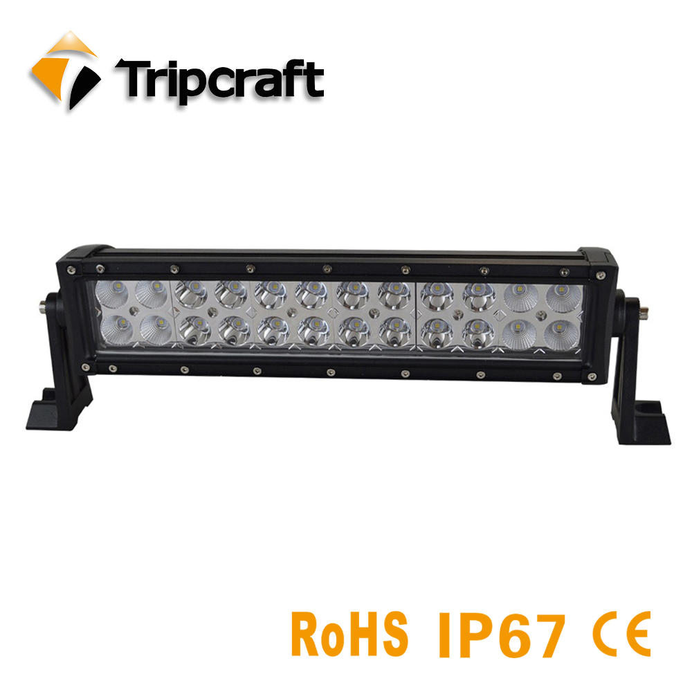 Фото 72W 13.5 Inch Led Light Bar For Offroad Boat Car Tractor Truck 4x4 SUV ATV 10V 30V Spot Flood Beam Driving Lamp LED Work Light