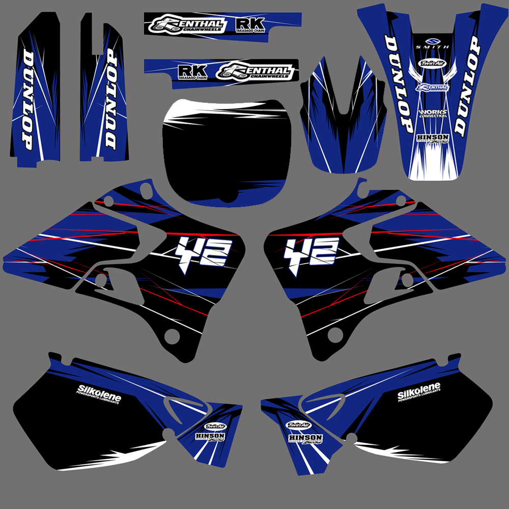 все цены на NICECNC New Style Team Graphics Backgrounds Decals Stickers Kits For Yamaha YZ125 YZ250 1996 1997 1998 1999 2000 2001 YZ 125 250 онлайн