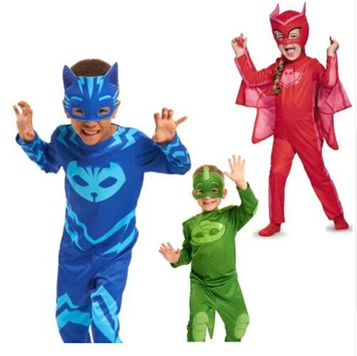 цены high quality PJ mask hero of children cosplay costume and PJ Masks cosplay costume and birthday party cosplay costume