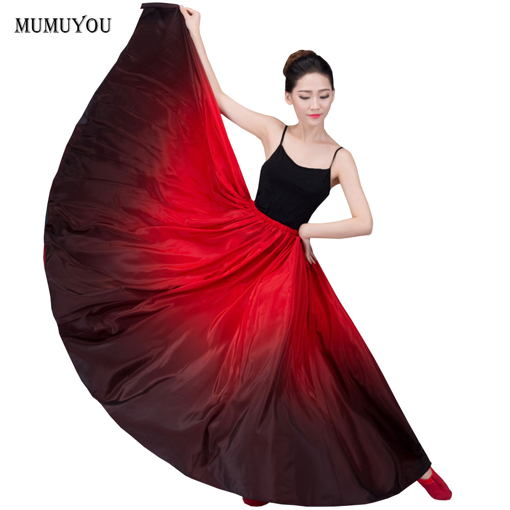 Women Dance Skirts Latin Practice Cha Cha Spanish Ballroom Expansion Skirts Perform Chinese Style Dancer Floor-Length 803-321