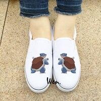 Wen White Black Slip On Pokemon Shoes Design Custom Anime Blastoise Canvas Sneakers Mens Womens Gifts