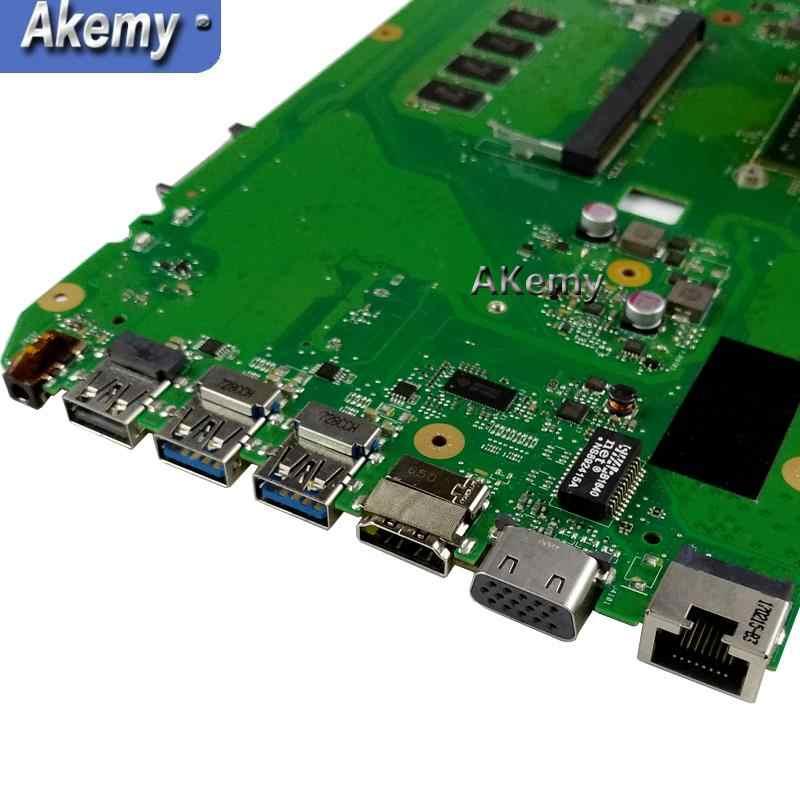 Akemy X751YI האם מחשב נייד עבור ASUS X751Y X751YI K751Y Mainboard 2GB גרפיקה כרטיס 4GB RAM A6-7310 מעבד