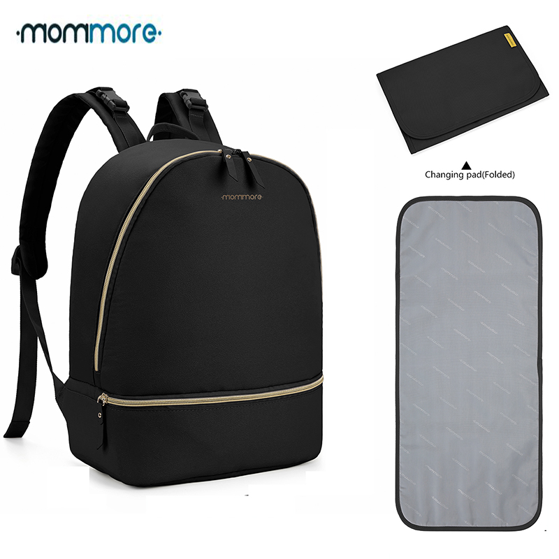 Mommore Large Diaper Backpacks Fit 13'' Laptop Travel Diaper Bags With Changing Pad Lightweight Nursing Bags For Baby Care