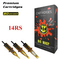 BIGWASP [Premium Edition] Professional Disposable Brown Tattoo Needle Cartridge 14 Round Shaders (14RS) 20Pcs/Box