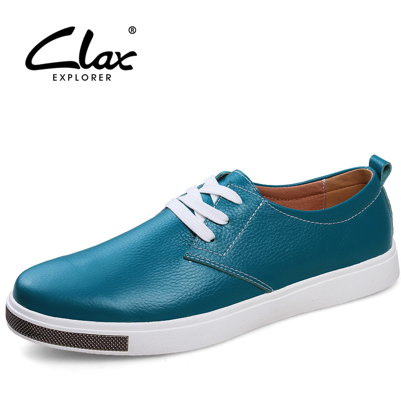 CLAX Men's Casual Shoes Fashion Genuine Leather Male Leisure Shoe Spring Autumn Footwear Walking Shoe Soft Comfortable claladoudou spring autumn children sneakers genuine leather red girls running shoes waterproof comfortable boys walking shoe kid