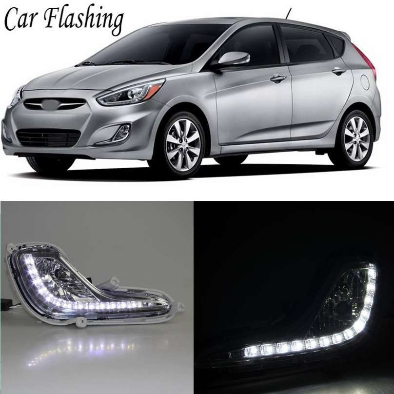 Car Flashing Led Daytime Running Light Fog Light Drl Xenon