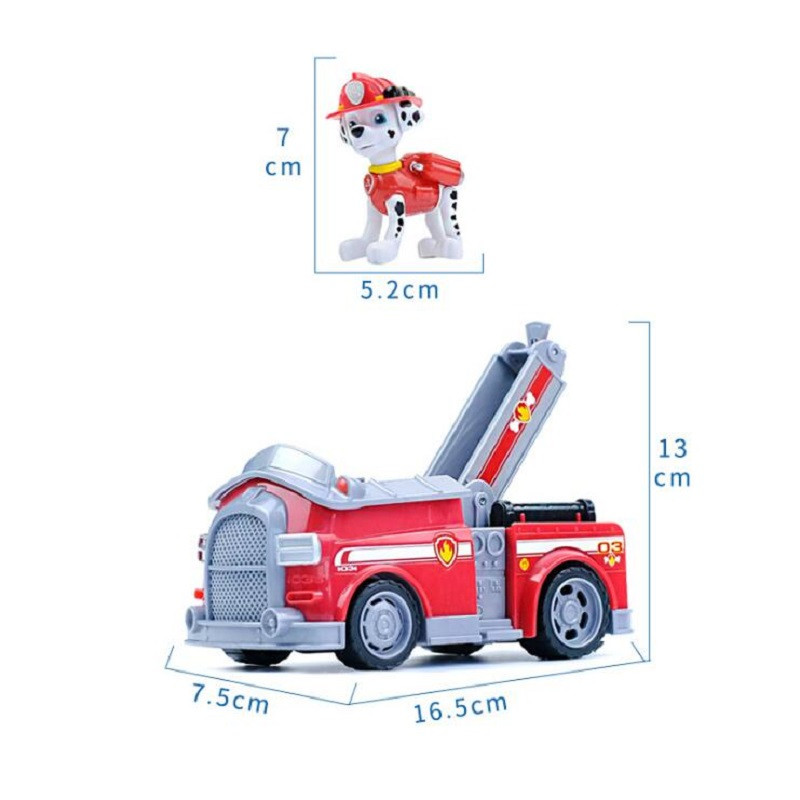 Paw patrol dog car chase marshall rocky zuma skye vehicle car kids Toys Figure Doll birthday kids gift toys 1pcs in Action Toy Figures from Toys Hobbies