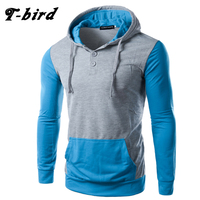 T Bird 2017 New Fashion Hoodies Brand Men Stitching Sweatshirt Male Hoody Hip Hop Autumn Winter