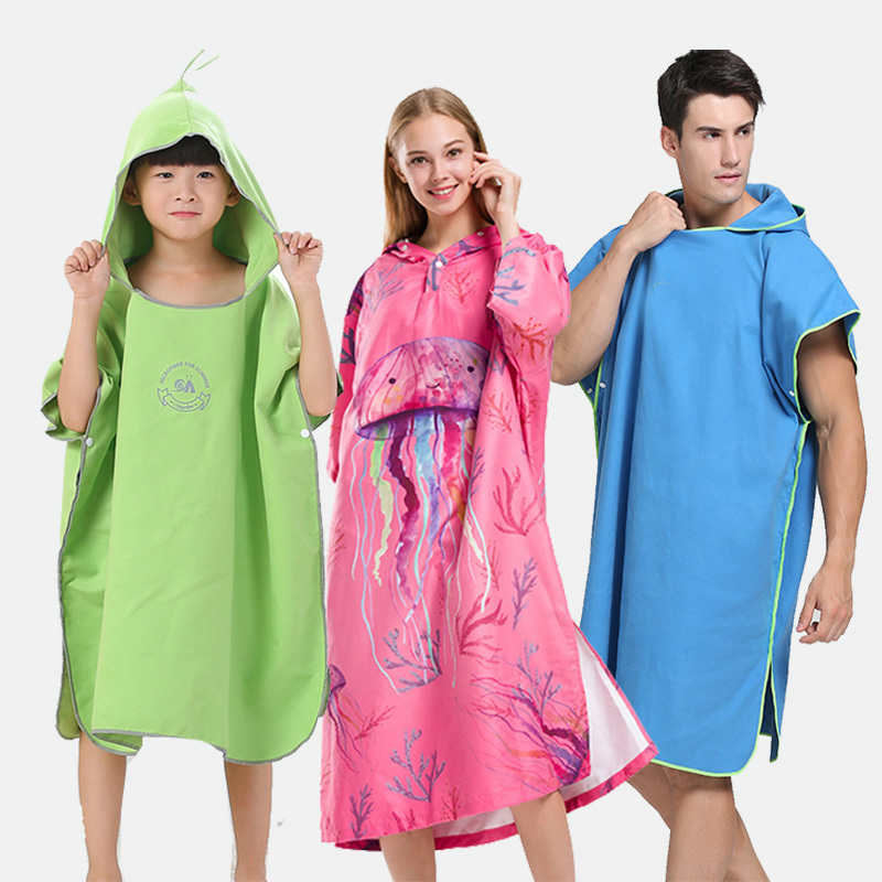 Sandy Beach Cloak Towel Bathrobe Children Swimming Spring Exchange Clothes Water Uptake Sunscreen Sandy Beach Piece Of Cloth environmentally friendly pvc inflatable shell water floating row of a variety of swimming pearl shell swimming ring