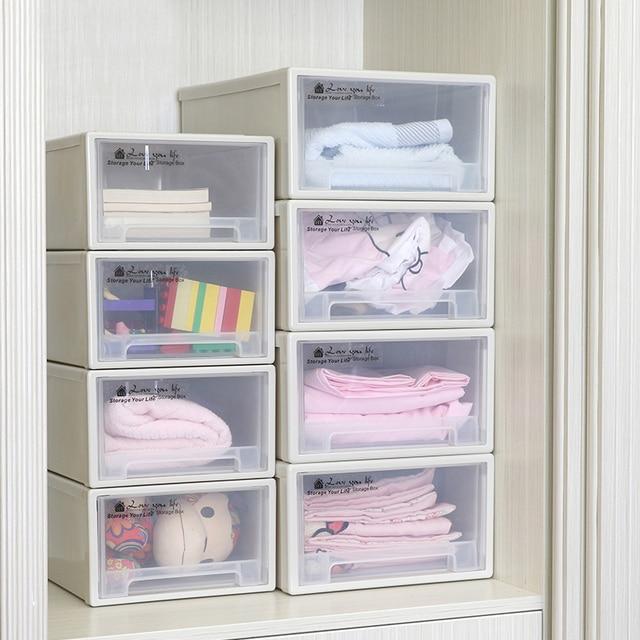 Caja de almacenamiento caj n organizador de pl stico - Organizador cajon oficina ...
