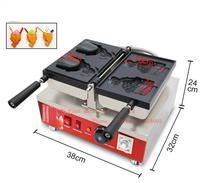 Бесплатная доставка 110 В 220 В 2 шт./пластина рыба конический вафельница мороженое Taiyaki машина